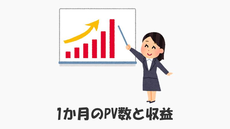 ブログ開始1か月のPV数と収益